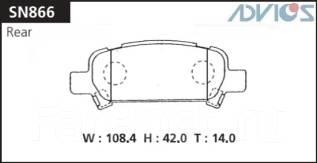 Колодка тормозная дисковая. Mitsubishi Galant Fortis, CZ4A Mitsubishi Lancer Evolution, CZ4A Subaru Legacy, BP5, BP9, BL5, BL9, BHE, BHCB5AE, BPE, BLE...