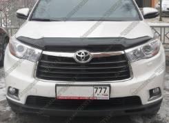 Дефлектор капота. Toyota Highlander, GSU55L, GVU58, GSU55, ASU50L, ASU50, GSU50 Двигатели: 2GRFE, 2GRFXE, 1ARFE