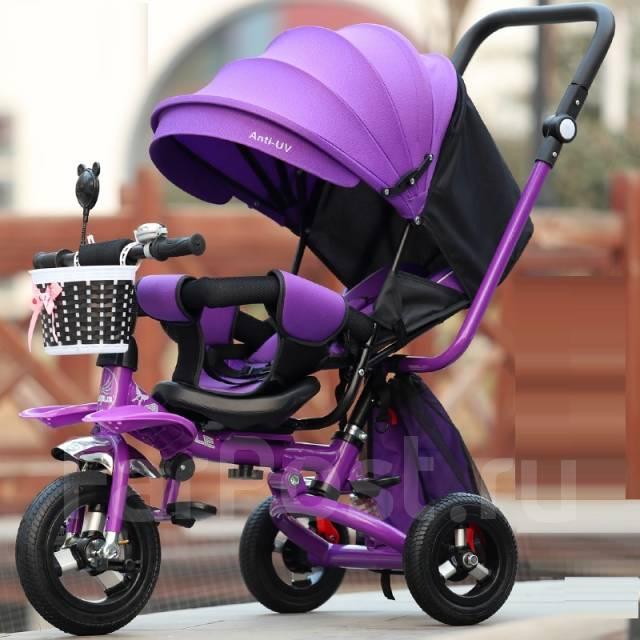детские велосипеды трехколесные с ручкой фото