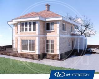 M-fresh Majesta (Проект 2-этажного жилого дома с эркером! ). 200-300 кв. м., 2 этажа, 5 комнат, бетон