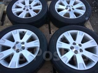 Продам летние шины 225/55R18 на литых дисках Mitsubishi. x18 5x114.30 ET38