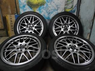 Продам Стильные Модные под Чёр . Хром Voltec+Лето215/45R17Toyota, Subaru. 7.0x17 5x100.00 ET48