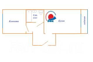 1-комнатная, ул. Молодежная, д. 9. п. Новый, агентство, 39 кв.м. План квартиры