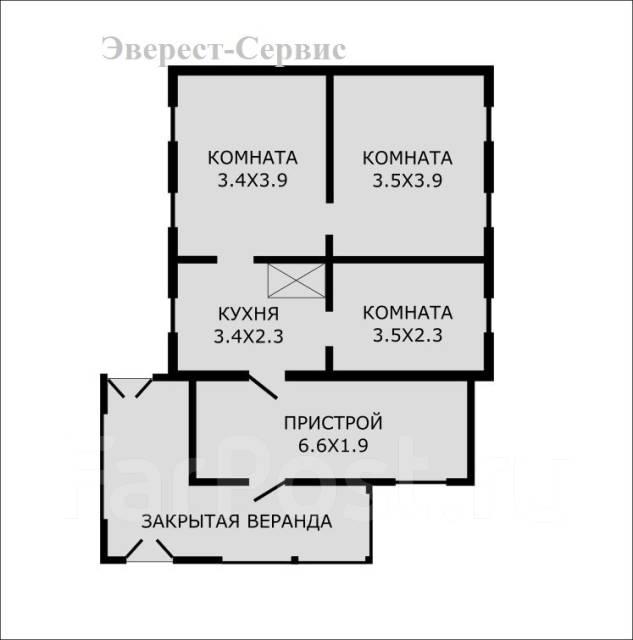 Отличный дом в пос. Трудовое, ул. Порт-Артурская, Владивосток. Улица Порт-Артурская 56, р-н Трудовое, площадь дома 61 кв.м., централизованный водопро...