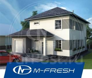 M-fresh Gabriel-зеркальный (Котельная с гаражом, кухня, гостиная). 200-300 кв. м., 2 этажа, 4 комнаты, бетон