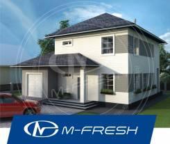 M-fresh Gabriel-зеркальный (Готовый архитектурный проект дома). 200-300 кв. м., 2 этажа, 4 комнаты, бетон