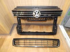 Решетка бамперная. Volkswagen Polo, 612 Двигатели: BTS, CFNA, CFNB, CNFB