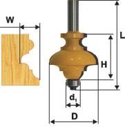Фреза кромочная фигурная мультипрофильная (хвостовик 8 мм) 10570