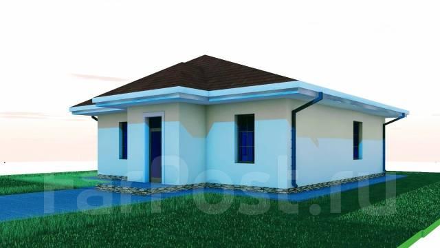 03 Zz Проект одноэтажного дома в Сарове. до 100 кв. м., 1 этаж, 4 комнаты, бетон