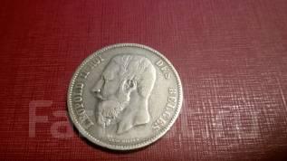 5 франков - Бельгия - 1868 - серебро 900