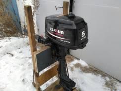 Parsun. 5,00л.с., 2х тактный, бензин, нога S (381 мм), Год: 2014 год