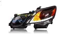 Фары передние черные линзы светодиодная лента тюнинг Lexus GS350 GS300. Lexus GS350 Lexus GS300