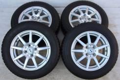 Колёса с шинами =Weds GMach= R14! 7мм! 2012 год (№ 51950). 5.5x14 4x100.00 ET45