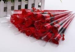 Необычный подарок-роза из мыла красного цвета
