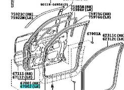 Дверь боковая. Toyota Land Cruiser Prado, TRJ125, RZJ120, LJ120, LJ125, KDJ125, GRJ120, TRJ120, GRJ121, KZJ120, GRJ125, VZJ125, KDJ121, KDJ120, VZJ121...