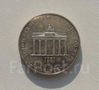 10 марок. Германия. Бранденбургские ворота 1991А