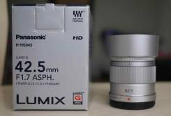Продам объектив Panasonic 42.5mm F1.7 ASPH. Для Panasonic