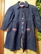 Платья джинсовые. Рост: 110-116, 116-122 см