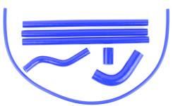 Патрубки системы охлаждения для Ваз 2108,2109,21099,2113,2115, синие