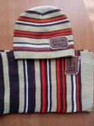Шапка и шарф. Рост: 80-86, 86-98, 98-104 см