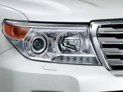 Фара. Toyota Land Cruiser, VDJ200, UZJ200W, J200, GRJ200, URJ200, UZJ200, GRJ76K, GRJ79K Двигатели: 1VDFTV, 2UZFE, 3URFE, 1GRFE. Под заказ