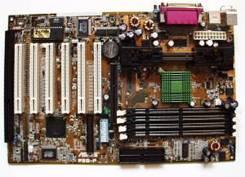 Материнская плата Asus p3b-f + процессор