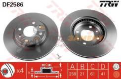 Диск тормозной передний RENAULT LOGAN, SANDERO DF2586 TRW / DF2586