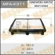 Воздушный фильтр A9206 MASUMA LHD DAEWOO MATIZ V800, V1000 98- (140) MASUMA / MFA-K311