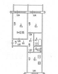 2-комнатная, улица Краснореченская 163а. Индустриальный, агентство, 60 кв.м.