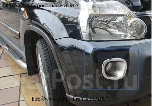 Накладки на передний бампер под туманки для X-Trail икстреил 07-13 г. Nissan X-Trail, T31R, TNT31, NT31, T31, DNT31