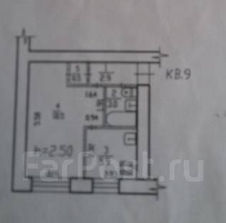 1-комнатная, улица Руднева 95. Краснофлотский, агентство, 31 кв.м.