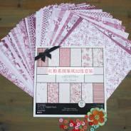 Набор бумаги для скрапбукинга в розовых тонах. Под заказ