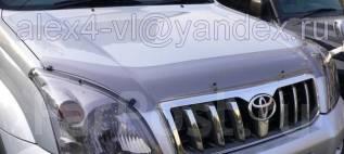Дефлектор капота. Toyota Land Cruiser Prado, RZJ120, KDJ125, GRJ120, TRJ120W, KDJ121, RZJ125, VZJ120, RZJ120W, KDJ120W, KDJ121W, LJ120, VZJ121W, TRJ15...