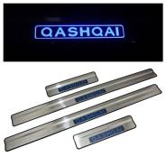Накладка на порог. Nissan Qashqai