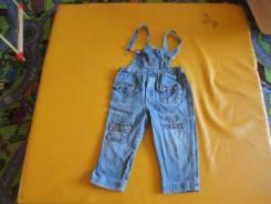 Полукомбинезоны джинсовые. Рост: 74-80, 80-86, 86-98, 98-104, 104-110, 110-116 см