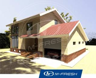 M-fresh White chocolate (Посмотрите проект дома со встроенным гаражом). 300-400 кв. м., 2 этажа, 5 комнат, комбинированный