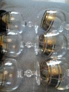 Фужеры ( Богемское стекло , позолота , серебрение ). Оригинал