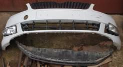 Бампер передний Skoda Fabia 5J белый 5J0807221D