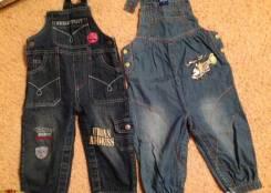 Комбинезоны джинсовые. Рост: 74-80 см