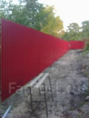 Установка и изготовление заборов ограждений ворот калиток