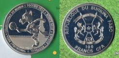 Буркина Фасо 100 франк 2017. Забивака талисман ЧМ футбол в России-2018