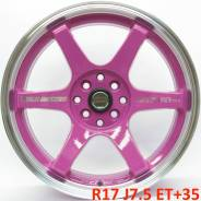 RAYS VOLK RACING. 7.5x17, 4x100.00, 4x114.30, ET35, ЦО 73,1мм.