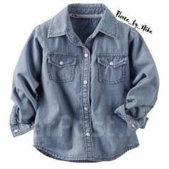 Рубашки джинсовые. Рост: 86-98 см