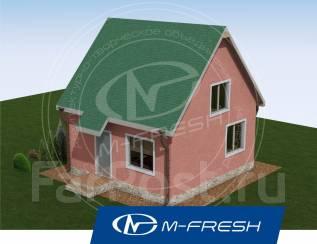 M-fresh Big Main room (Проект дома 120 метров кв. Посмотрите! ). 100-200 кв. м., 1 этаж, 3 комнаты, каркас