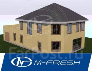 M-fresh Meridian plus! (Проект дома со встроенным гаражом и террасой! ). 300-400 кв. м., 2 этажа, 4 комнаты, каркас