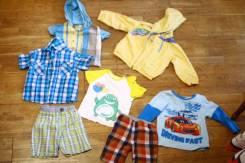 Одним лотом ветровка две рубашки футболка кофта двое шорт с рубля!. Рост: 80-86, 86-98 см