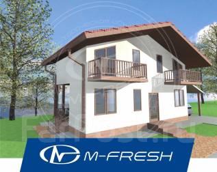 M-fresh Biingo! (Проект компактного каркасного дома с 3 комнатами! ). до 100 кв. м., 2 этажа, 3 комнаты, каркас