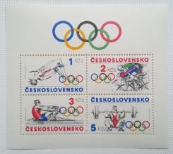 1984 Чехословакия. Спорт. ОИ в Лос-Анжелесе. Блок и 4м. Чистый