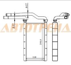 Радиатор отопителя. Mazda MPV, LW3W, LW5W, LWEW, LWFW