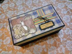 Мэджик -бокс - упаковка для подарка мужчине - ручная работа. Под заказ